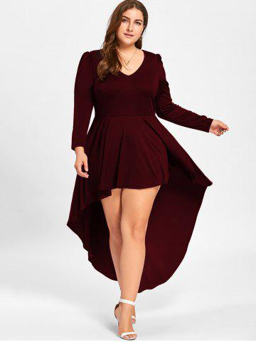 Plus Size Long Sleeve Tail Dress