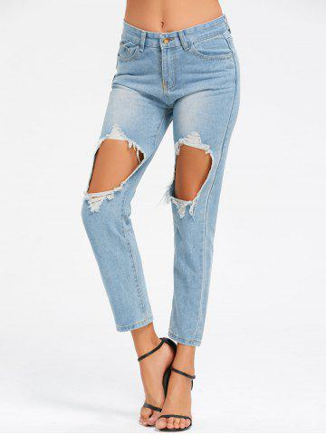 Affordable Ninth Cut Out Jeans