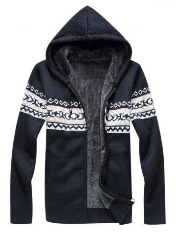 Pull à capuche en tricot Zip Up