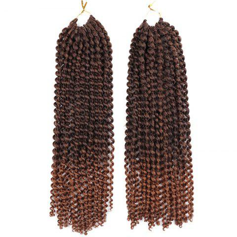 Cheap Long Synthetic Afro Kinky Princess Curl Braids Hair Weave