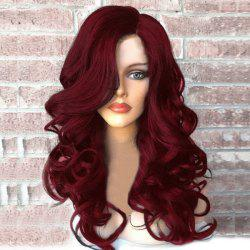 Side Part Long Fluffy Wavy Synthetic Wig -