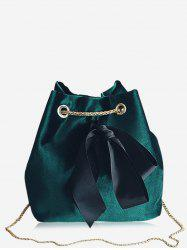 Chain Bowknot Bucket Crossbody Bag -