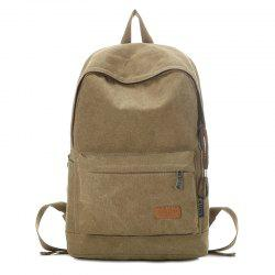 Stitching Solid Color School Backpack -