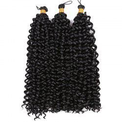 Medium Fluffy Pre Twisted Flashy Curl Synthetic Braids Hair Weave - BLACK