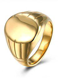 Engraved Claw Oval Finger Ring - GOLDEN 9