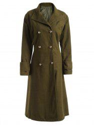Wool Blend Longline Plus Size Coat -