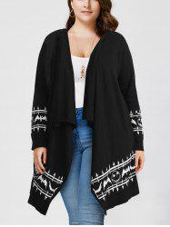 Halloween Plus Size Graphic Open Front Cardigan -