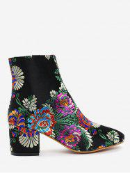 Ankle Embroidery Floral Boots -