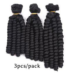 3Pcs Spring Curly Twist Braids Short Synthetic Hair Weaves -