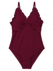 High Cut Ruffles Swimwear -