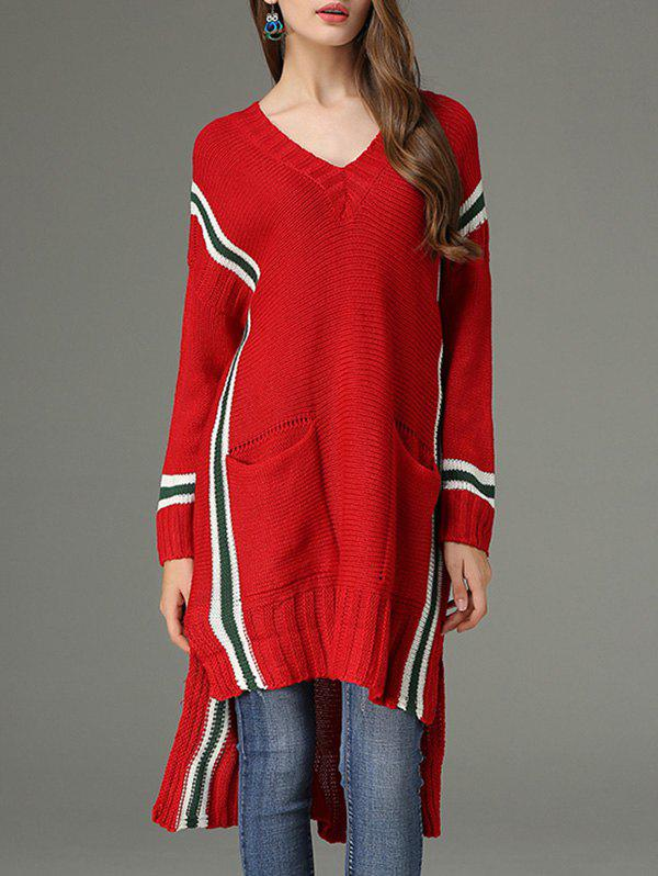 Shops High Low V Neck Sweater Dress