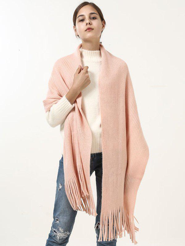 Discount Vintage Soft Fringed Knitted Shawl Scarf