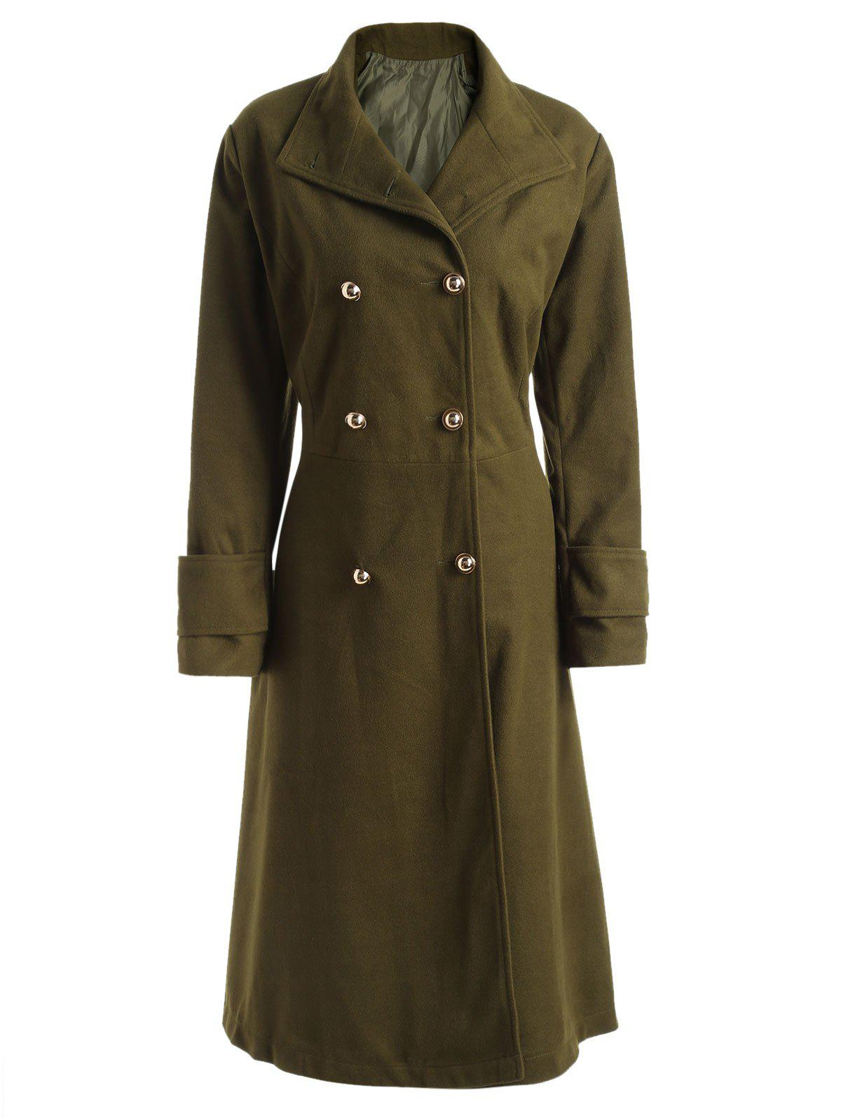 Fashion Wool Blend Longline Plus Size Coat
