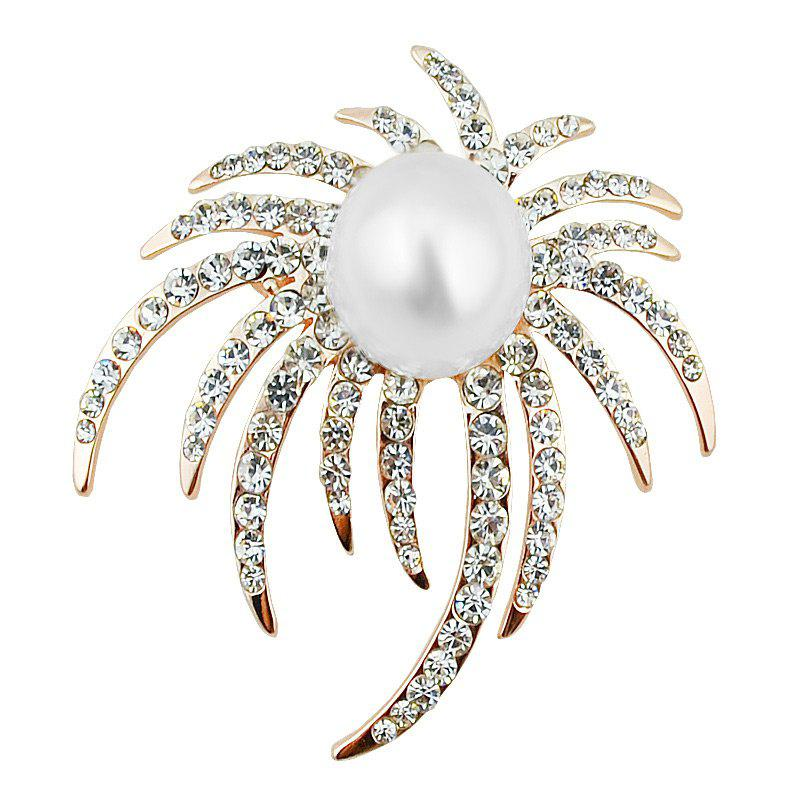 Store Rhinestoned Faux Pearl Unique Brooch