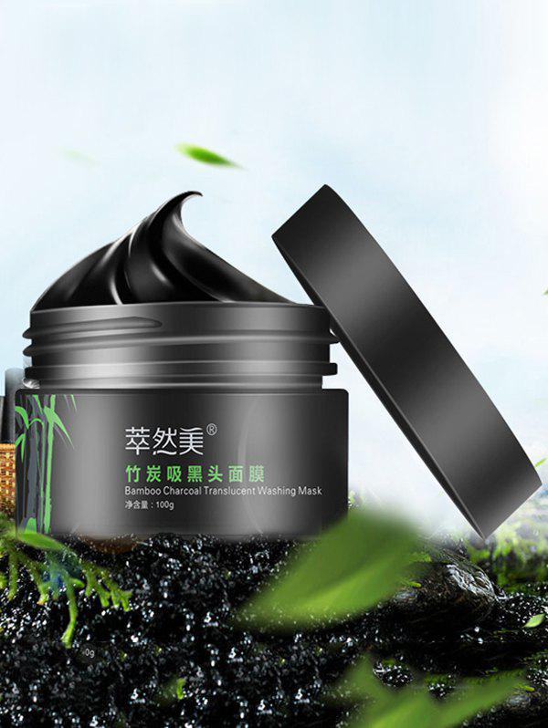 Removal Blackheads Bamboo Charcoal Translucent Washing MaskBEAUTY<br><br>Color: BLACK; Net Weight: 100g; Gender: For Unisex; Item Type: T Zone Care; Feature: Acne Treatment,Oil-control; Use: Face; Package weight: 0.1300 kg; Package size (L x W x H): 7.00 x 7.00 x 5.00 cm / 2.76 x 2.76 x 1.97 inches; Package Content: 1 x Mask;
