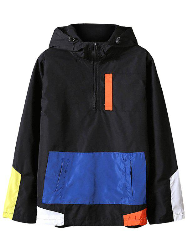 6cc59852061 55% OFF   2019 Colorblocked Half Zip Anorak Jacket