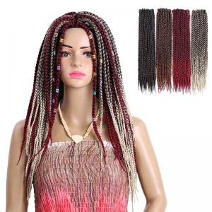 Long Three-strand Box Braids Synthetic Hair Weave -