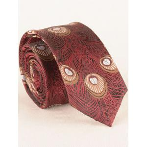 Vintage Peacock Feather Skinny Necktie -