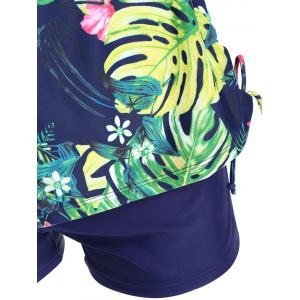Tropical Print Plus Size Tankini Swimwear - COLORMIX 2XL