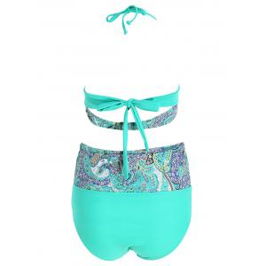 High Waist Print Plus Size Bikini Set - COLORMIX 2XL