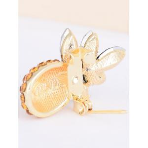 Rhinestone Insert Pineapple Shape Brooch - YELLOW