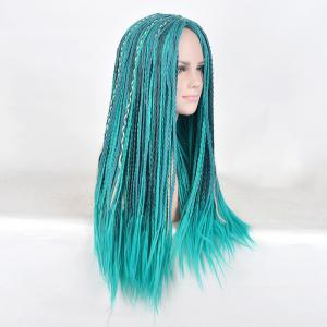 Long Middle Part Braided Descendants 2 Uma Cosplay Synthetic Wig -