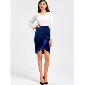 Knee Length Velvet Tulip Skirt -
