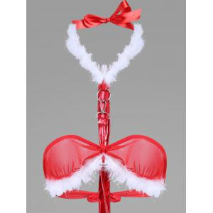 Christmas Plather Choker Teddy -