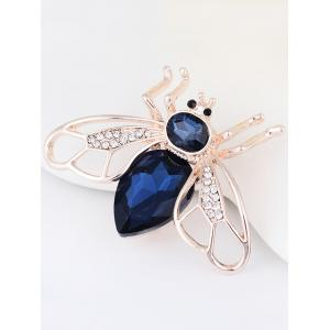 Faux Gem Embellished Cicada Forme Broche en alliage -