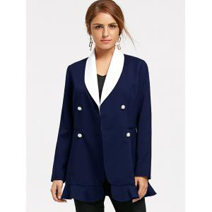 Shawl Collar Double Breast Peplum Blazer -