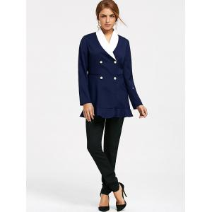 Shawl Collar Double Peplum Blazer -