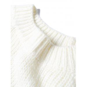 Pull en Tricot à Manches Raglan Color Block -