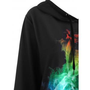 Plus Size Colorful Musical Note Graphic Hoodie -
