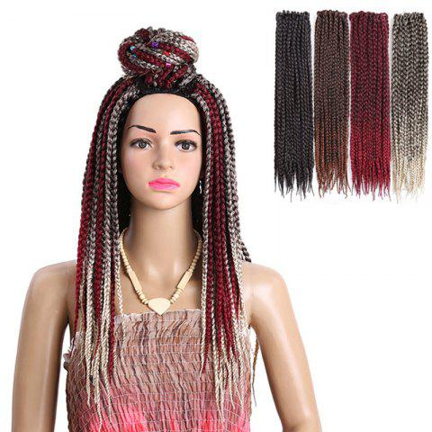 Chic Long Three-strand Box Braids Synthetic Hair Weave - BLACK  Mobile
