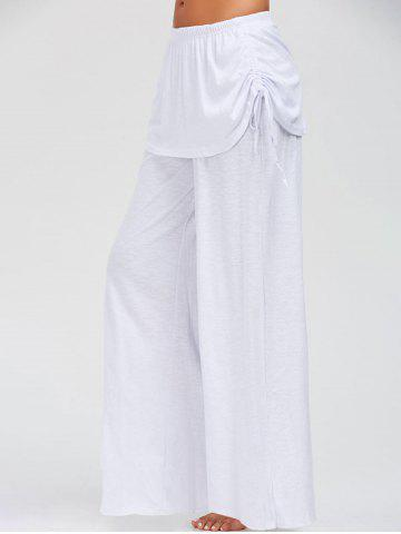 New Skirted Wide Leg Pants WHITE S