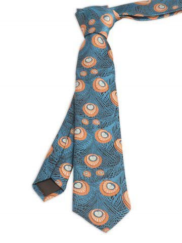 Store Vintage Peacock Feather Skinny Necktie PEACOCK BLUE