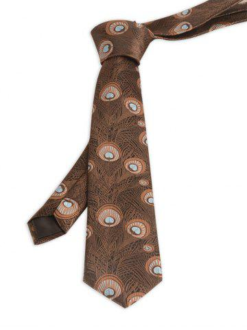Store Vintage Peacock Feather Skinny Necktie