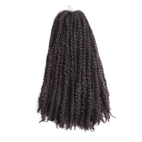 Long Fluffy Afro Kinky Curly Braids Cheveux Synthétiques Brun
