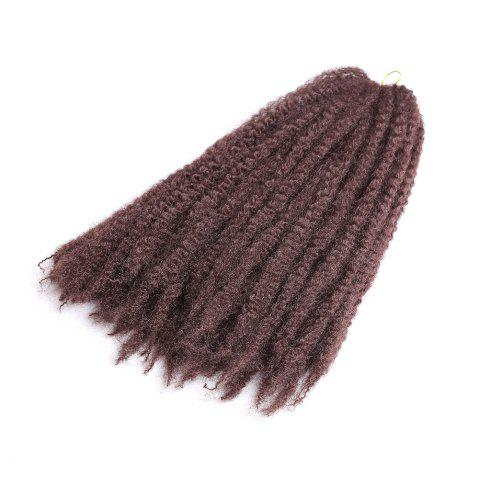 Shops Long Fluffy Afro Kinky Curly Braids Synthetic Hair Weave DARK AUBURN