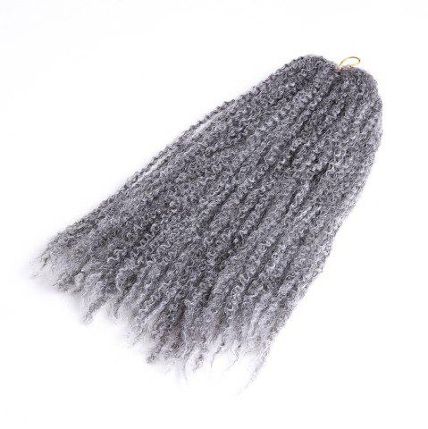 Sale Long Fluffy Afro Kinky Curly Braids Synthetic Hair Weave GRAY