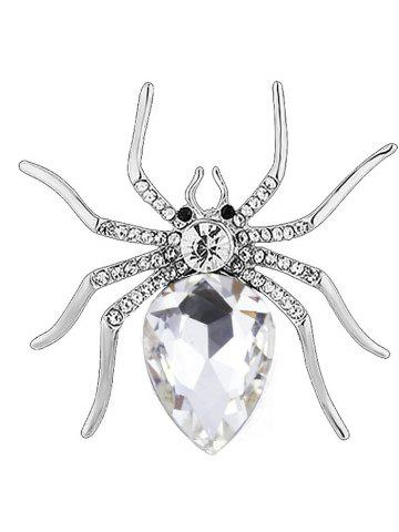 Best Rhinestone Embellished Spider Shape Alloy Brooch - WHITE  Mobile