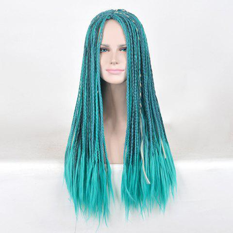 Sale Long Middle Part Braided Descendants 2 Uma Cosplay Synthetic Wig