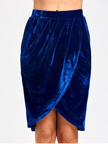 Outfit Knee Length Velvet Tulip Skirt