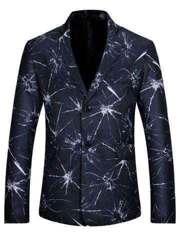 Outfit Crystal Dye Casual Slim Fit Blazer - XL BLUE Mobile