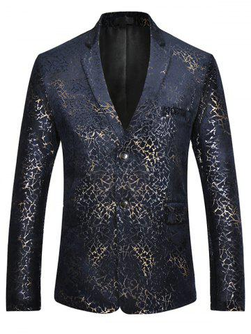 Best Two Button Brocade Print Velvet Blazer - S COLORMIX Mobile