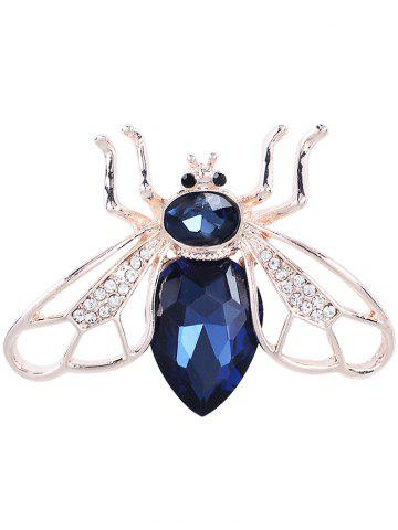 Faux Gem Embellished Cicada Forme Broche en alliage