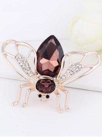 Trendy Faux Gem Embellished Cicada Shape Alloy Brooch