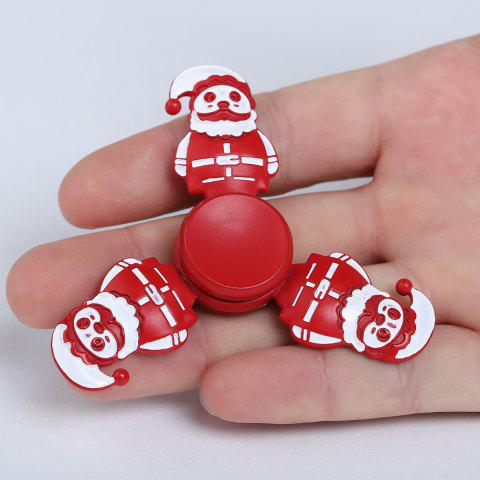 Best Christmas Snowman Tri-bar Metal Fidget Spinner RED 7.5*75*1.3CM