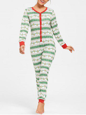 Best Printed Christmas One Piece Pajama COLORMIX 2XL