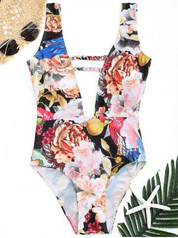 Outfit Plunge Floral Swimwear